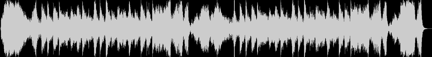 明るく壮大なシンセサイザーサウンドの未再生の波形