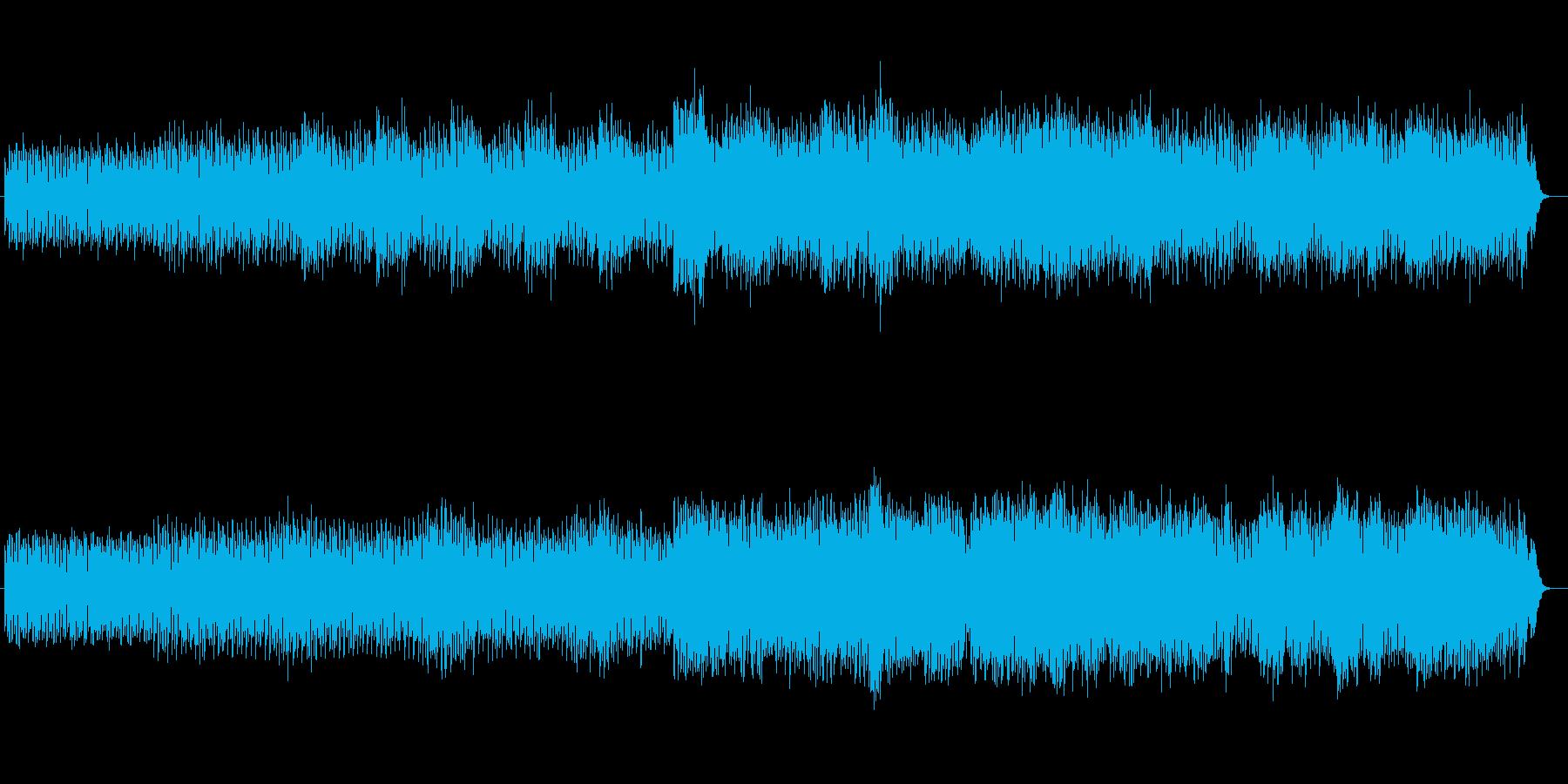 神秘的で洞窟・森などをイメージする曲の再生済みの波形