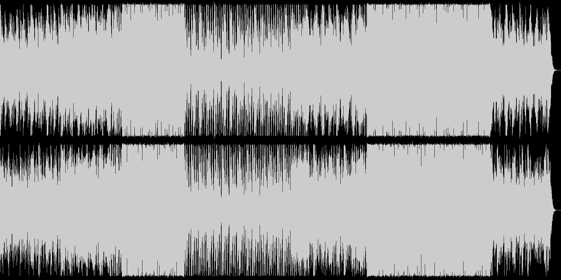 シンプルでおしゃれなイメージの楽曲の未再生の波形