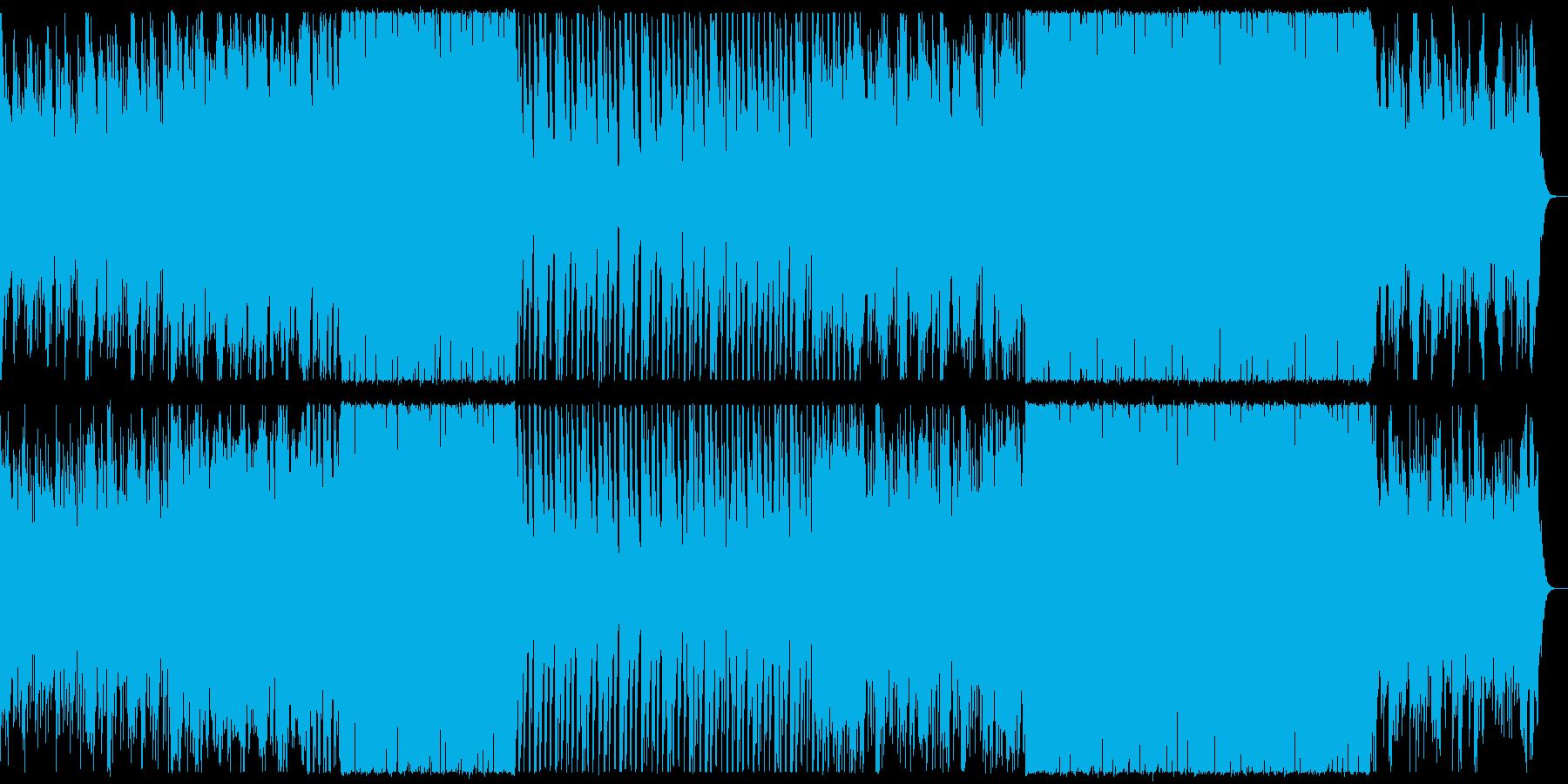シンプルでおしゃれなイメージの楽曲の再生済みの波形