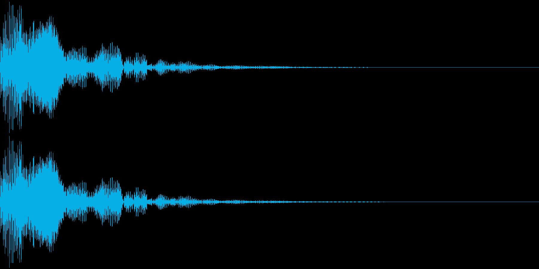 ポン_小鼓Bの再生済みの波形