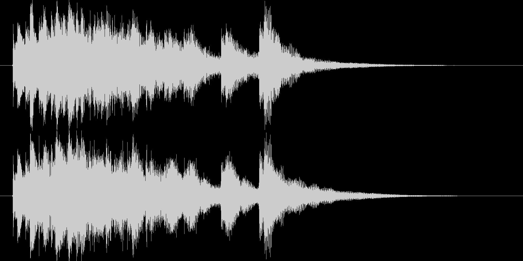 和風ショートジングル(琴)の未再生の波形