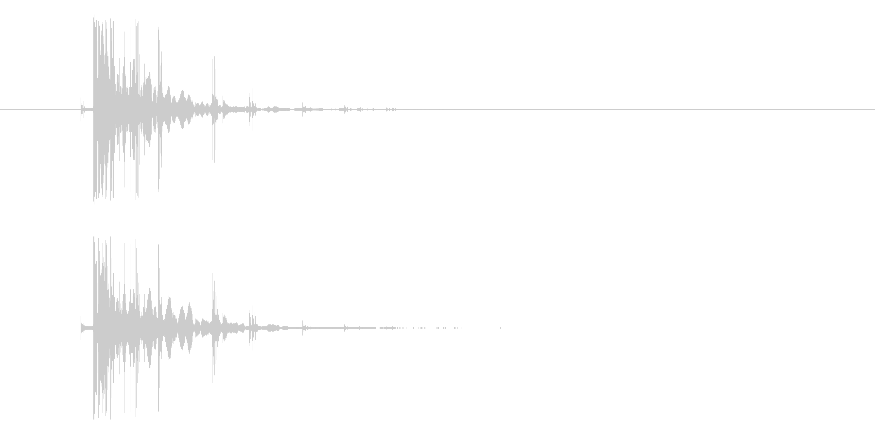 効果音、コイン, チャリーン、小銭、ド…の未再生の波形