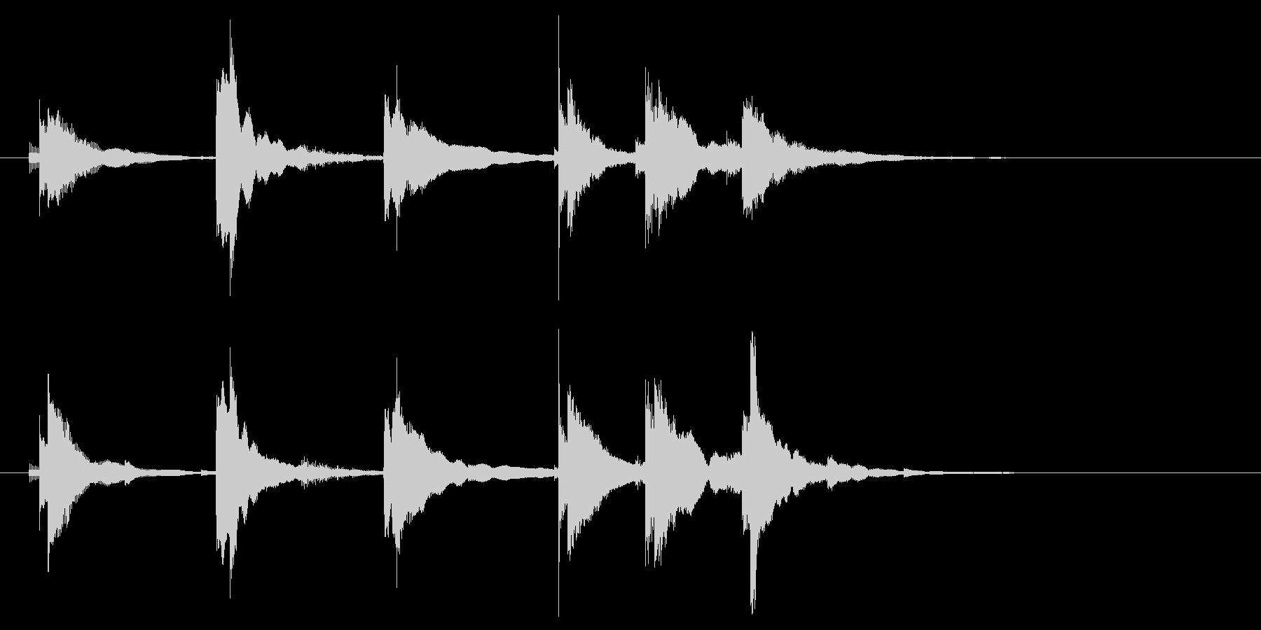 三味線でのエンディングの未再生の波形