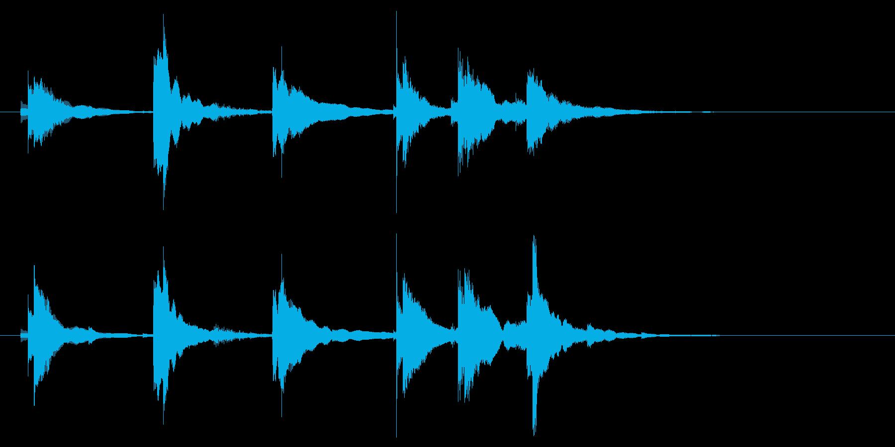 三味線でのエンディングの再生済みの波形