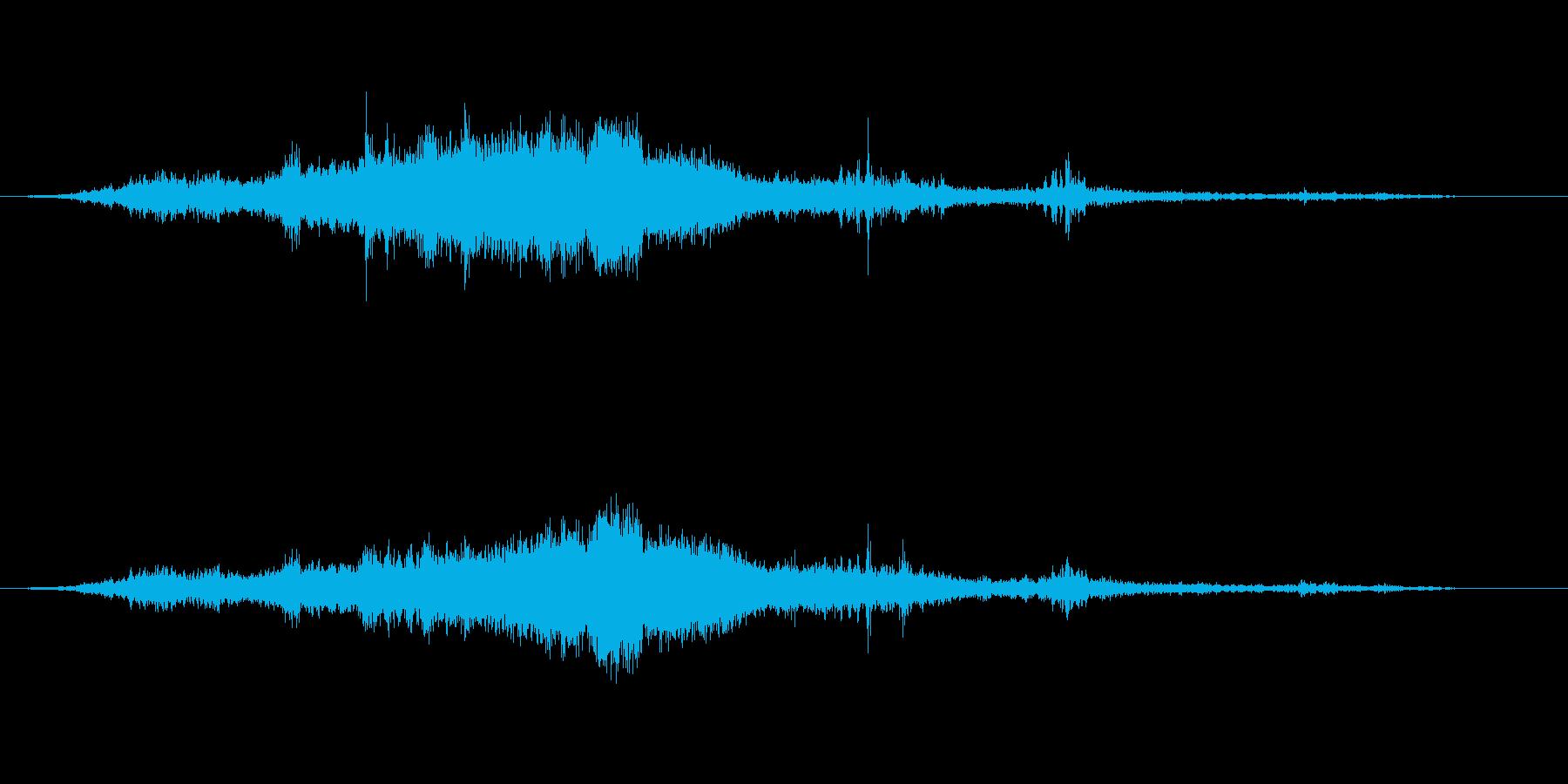 【環境音】飛行機の音02(羽田)の再生済みの波形