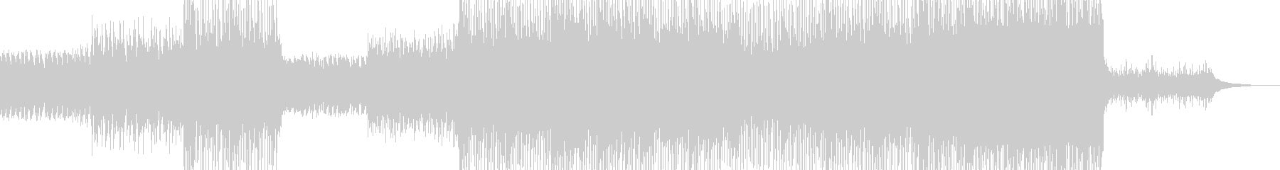 変則的なリズムとピアノとエレキの未再生の波形