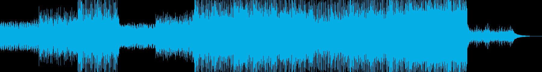 変則的なリズムとピアノとエレキの再生済みの波形
