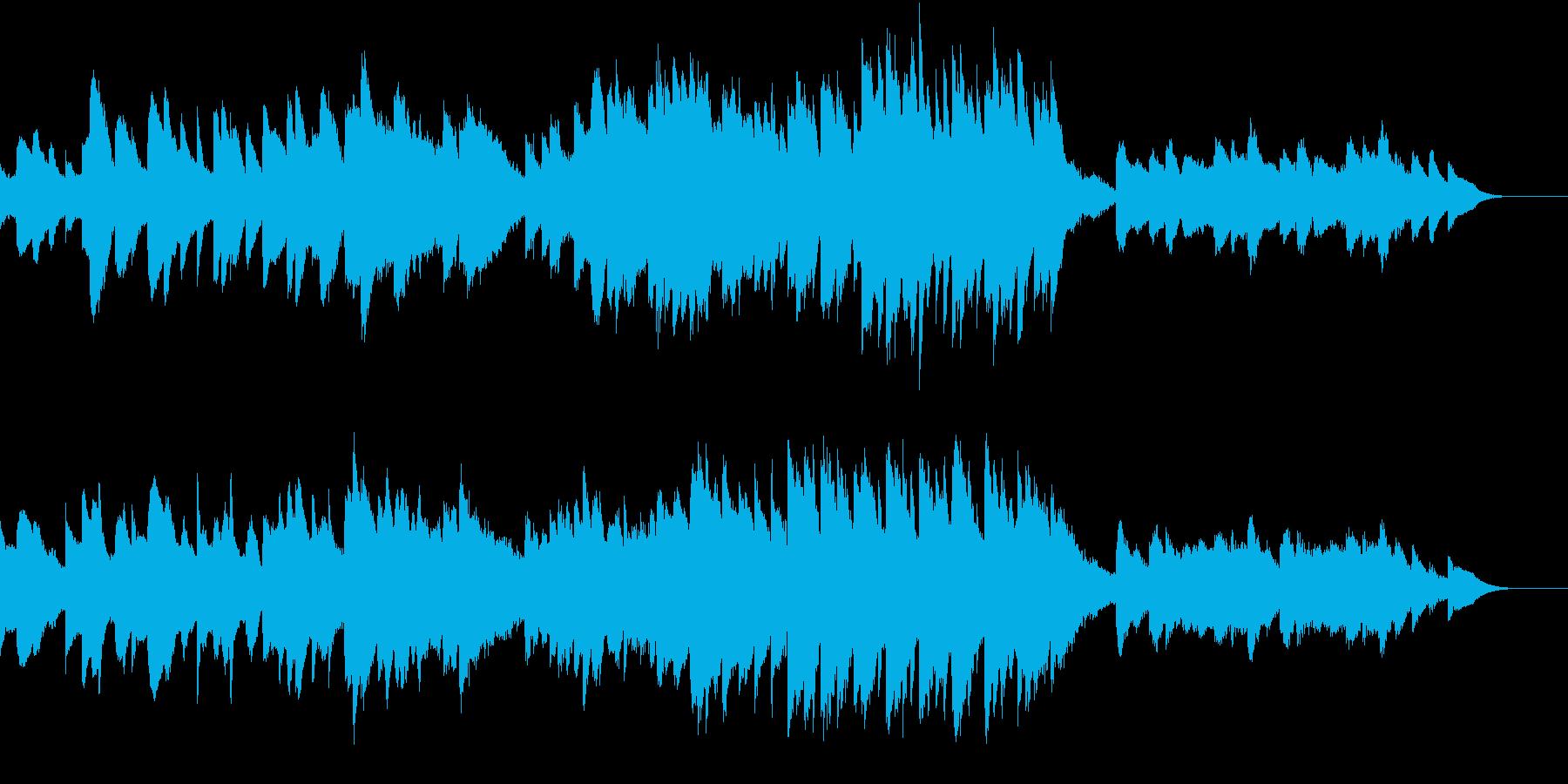 ホラーな雰囲気の静かな曲の再生済みの波形