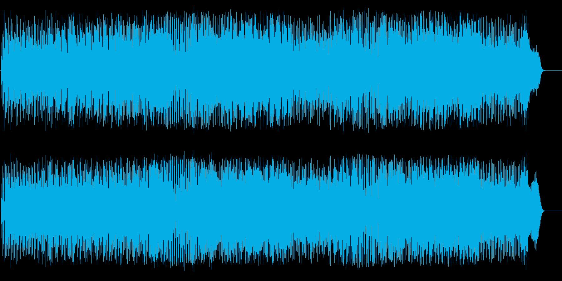 情報番組のつなぎのタイトルの再生済みの波形