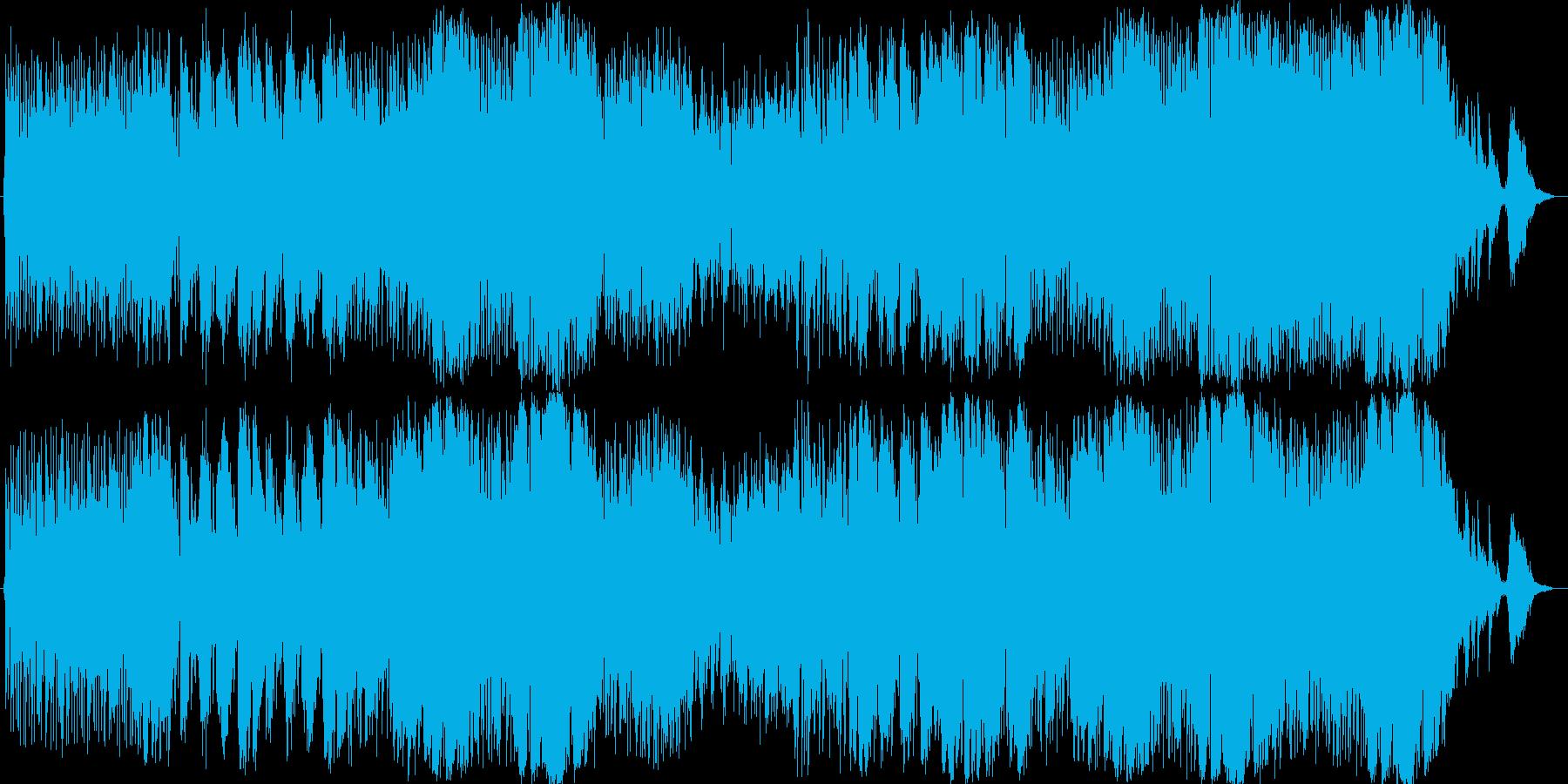 番組やイベントOPを想定したインスト曲の再生済みの波形