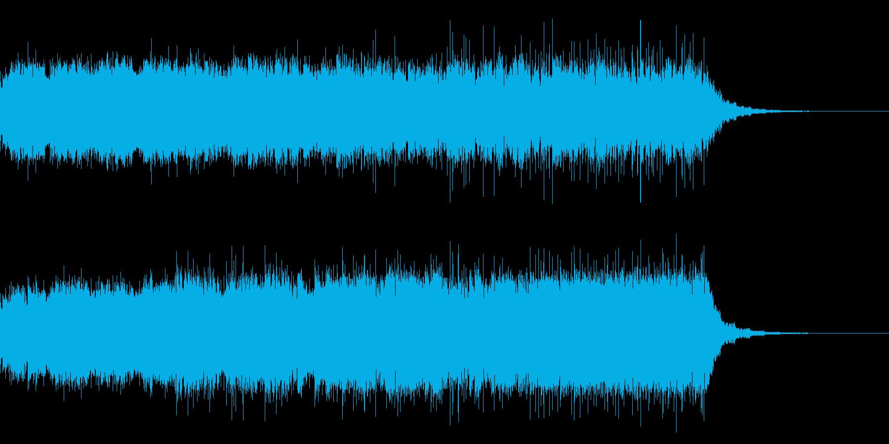不気味な雰囲気のbgmの再生済みの波形