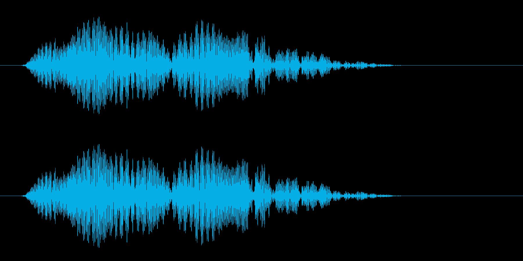 ボヨンと跳ね返るような効果音の再生済みの波形