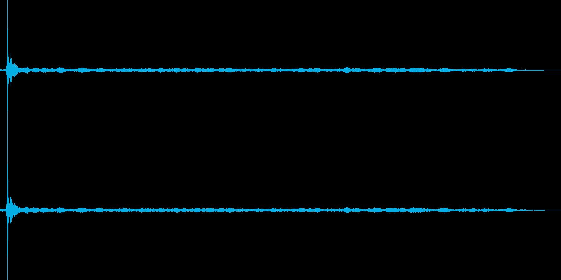 ライター点火の再生済みの波形