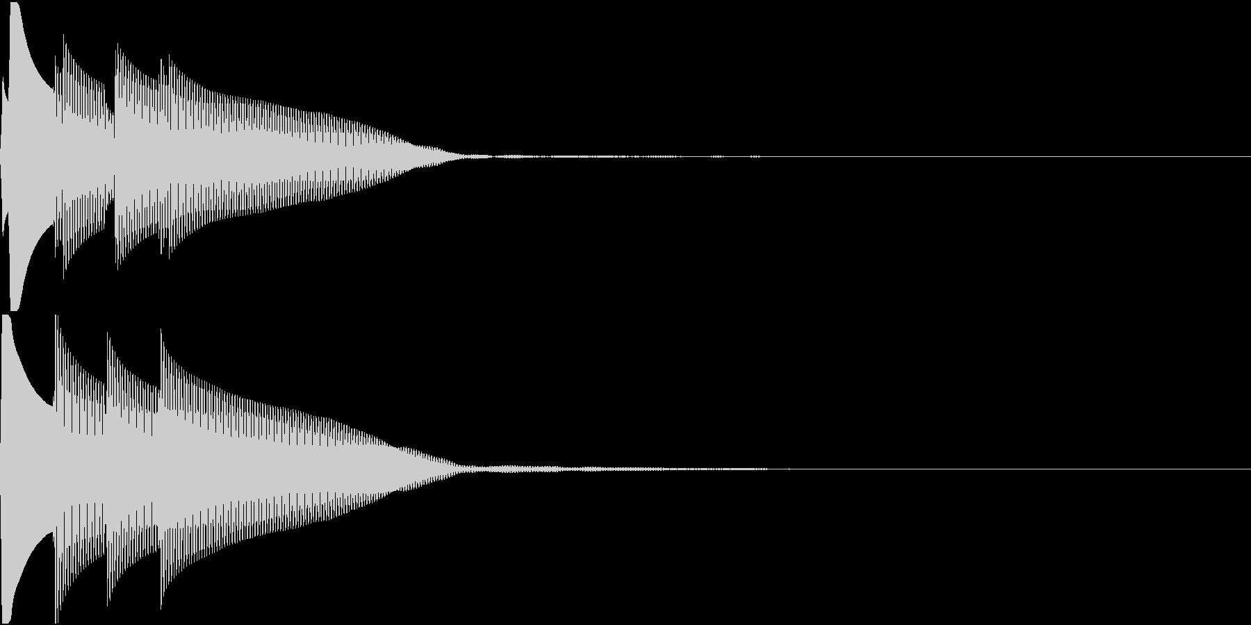 Quiz 正解 ピンポンピンポーン 低音の未再生の波形