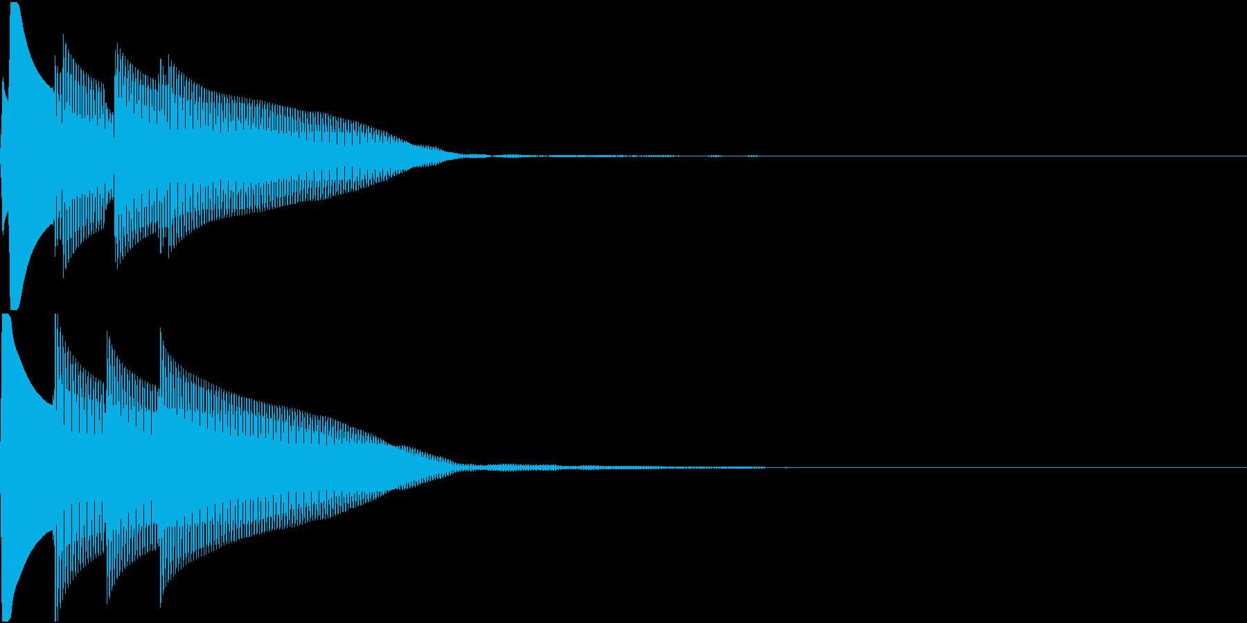 Quiz 正解 ピンポンピンポーン 低音の再生済みの波形