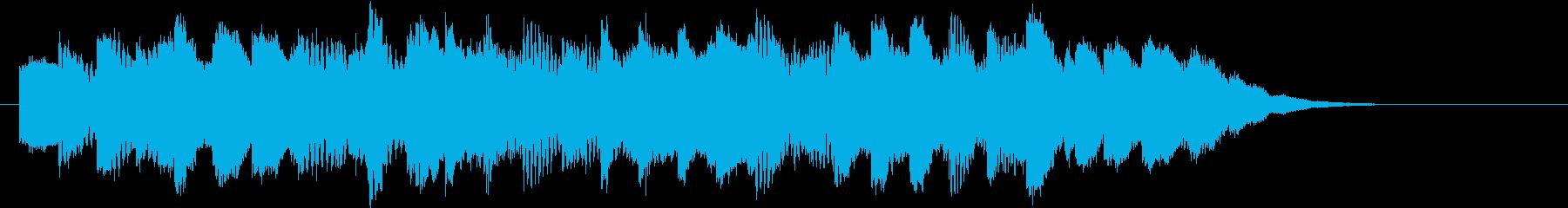 電車の発車メロディー風ジングルの再生済みの波形