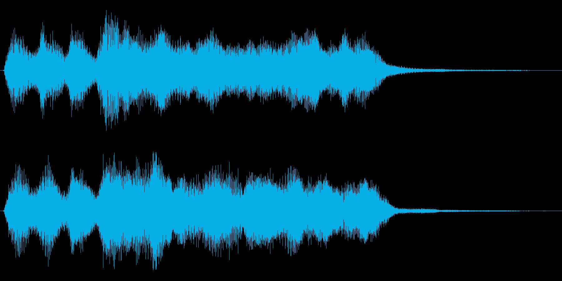 レベルアップやミッションクリアジングル の再生済みの波形