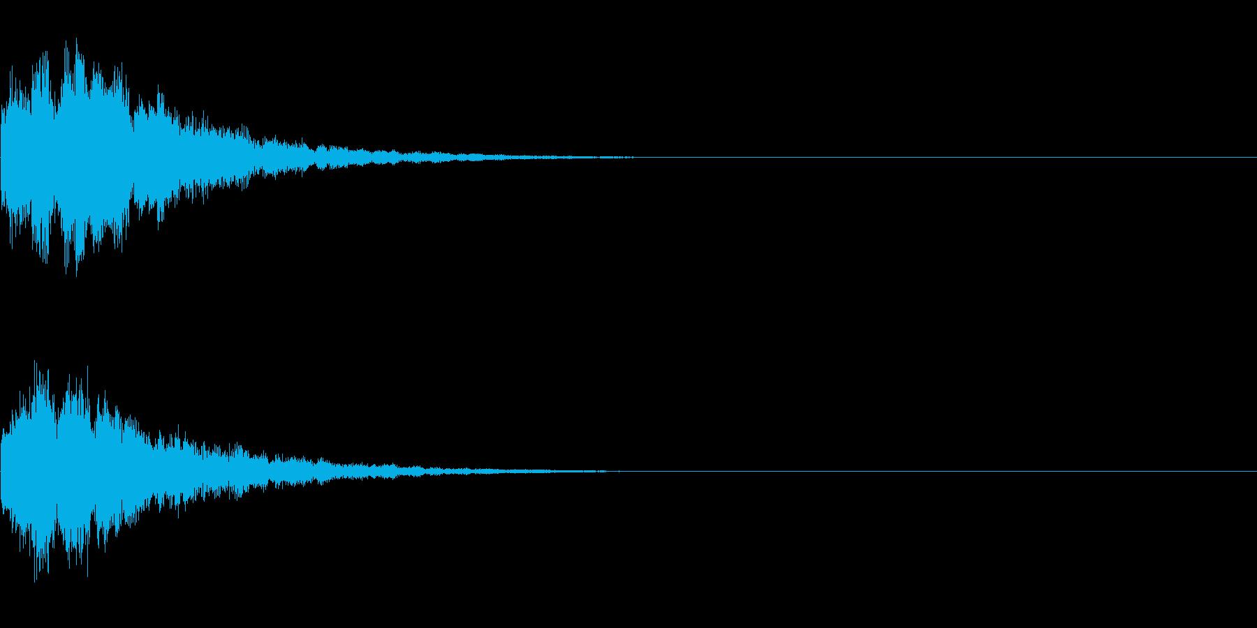キラーン(アイテム使用音)の再生済みの波形