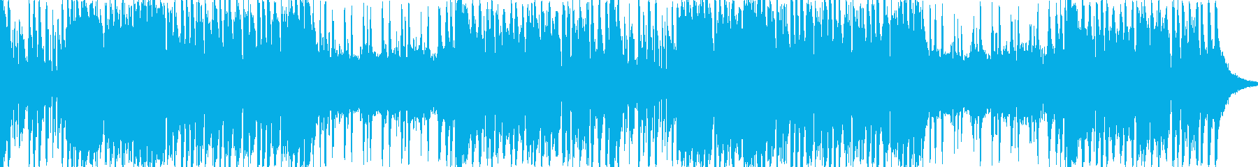 軽快なオーケストラBGMの再生済みの波形