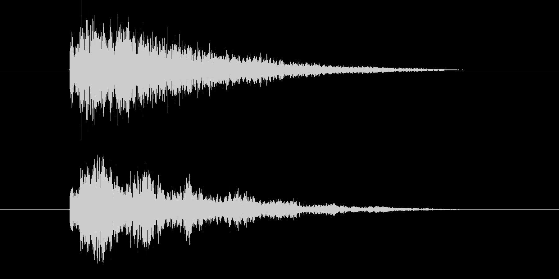 ビームやレーザーっぽい音の未再生の波形