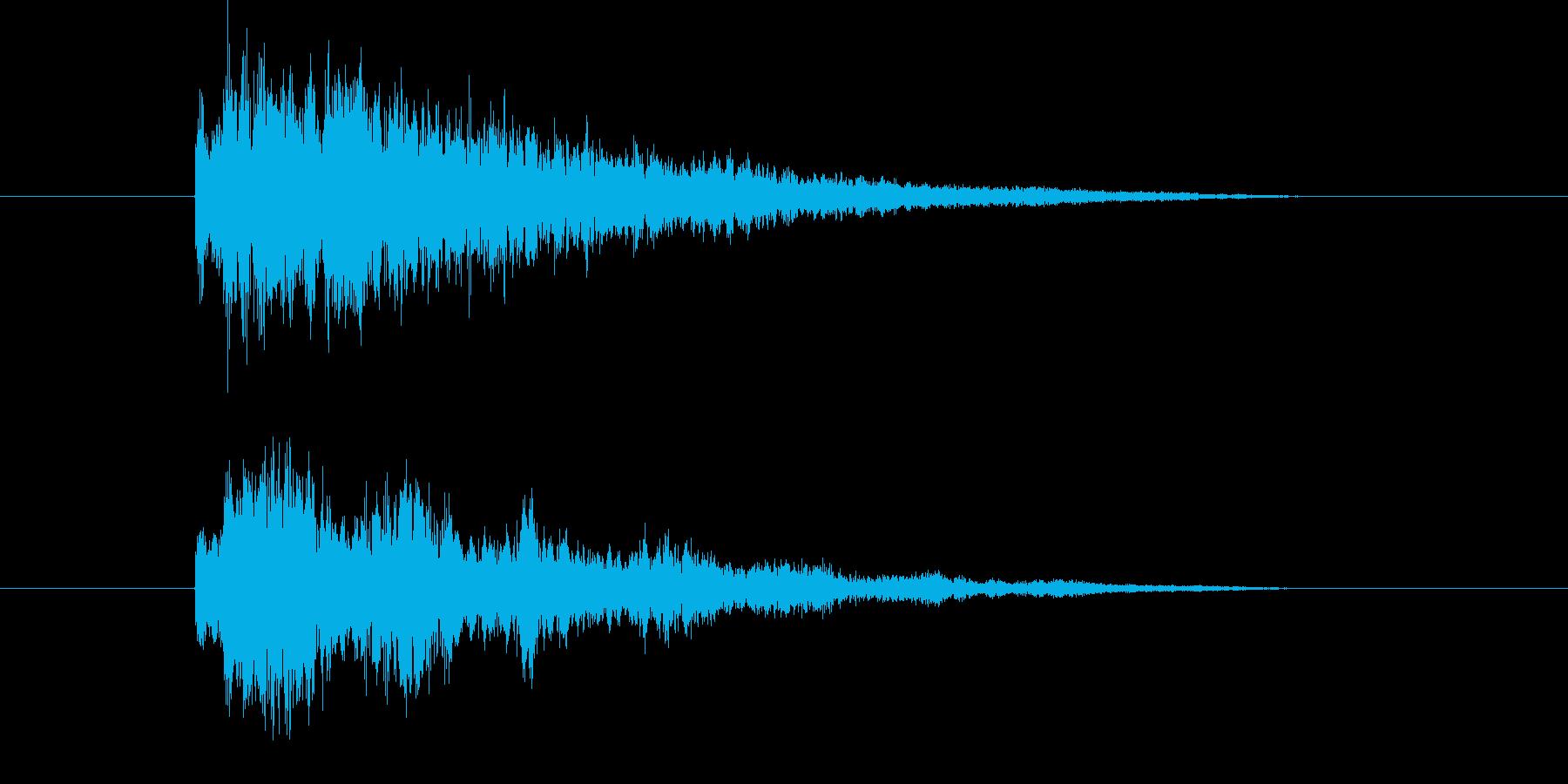 ビームやレーザーっぽい音の再生済みの波形