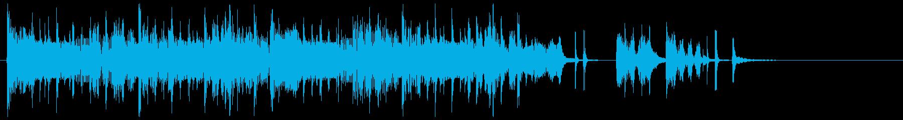 やすらぐ感じのオリエンタルジングルの再生済みの波形