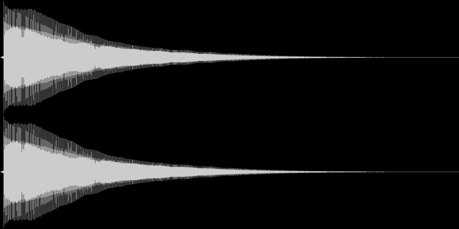 ピヨ~ンの未再生の波形