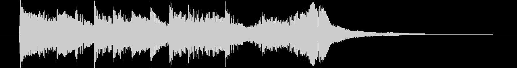 アコギとピアノで奏でるジングル#2の未再生の波形
