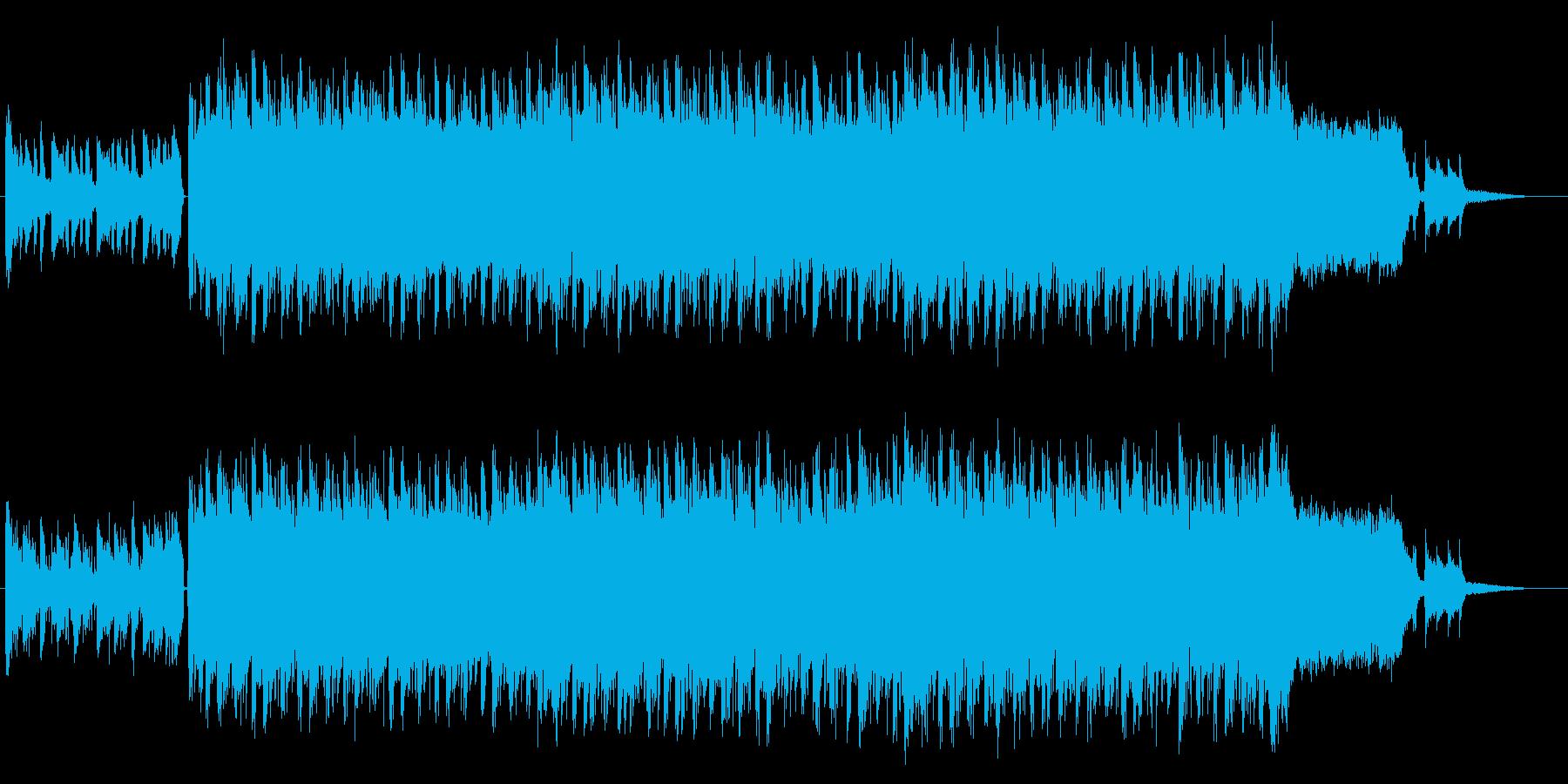 エレクトロニカ&ロックなエレキギターの再生済みの波形