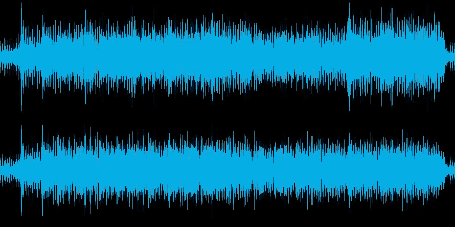 明るく疾走感のあるフィールドの曲の再生済みの波形
