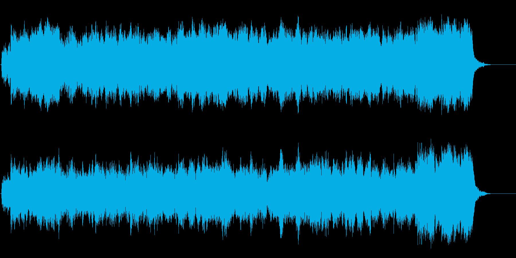 穏やかなネイチャー系アンビエントの再生済みの波形