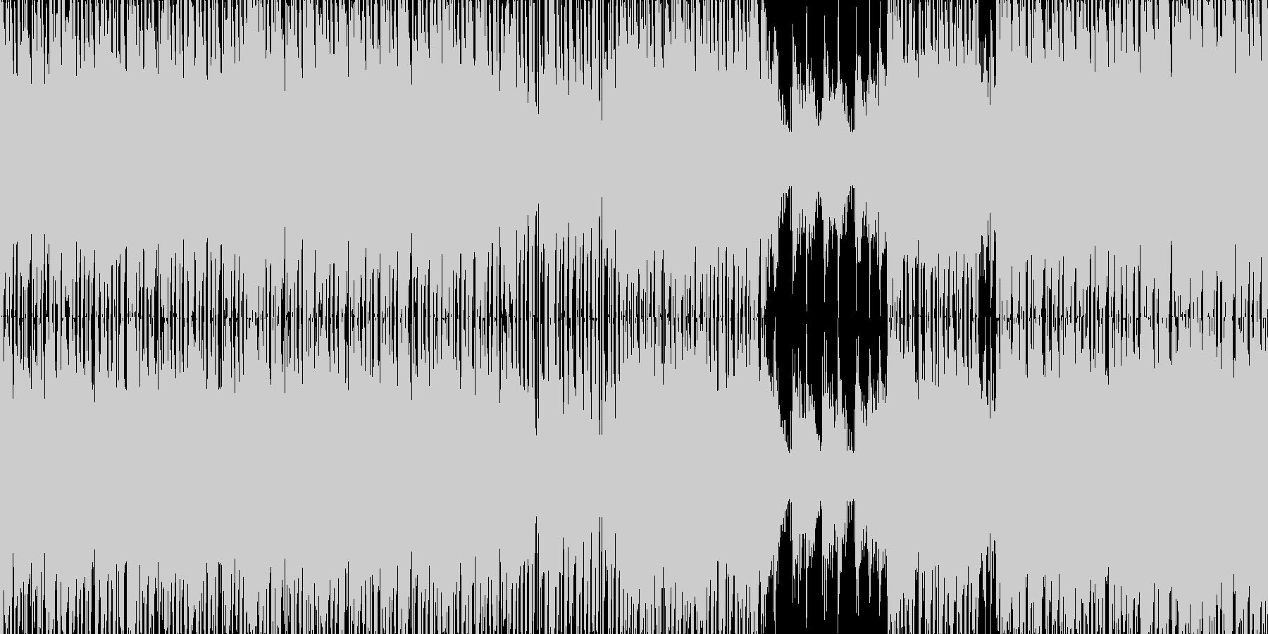 近未来をイメージさせるSFファンタジーの未再生の波形