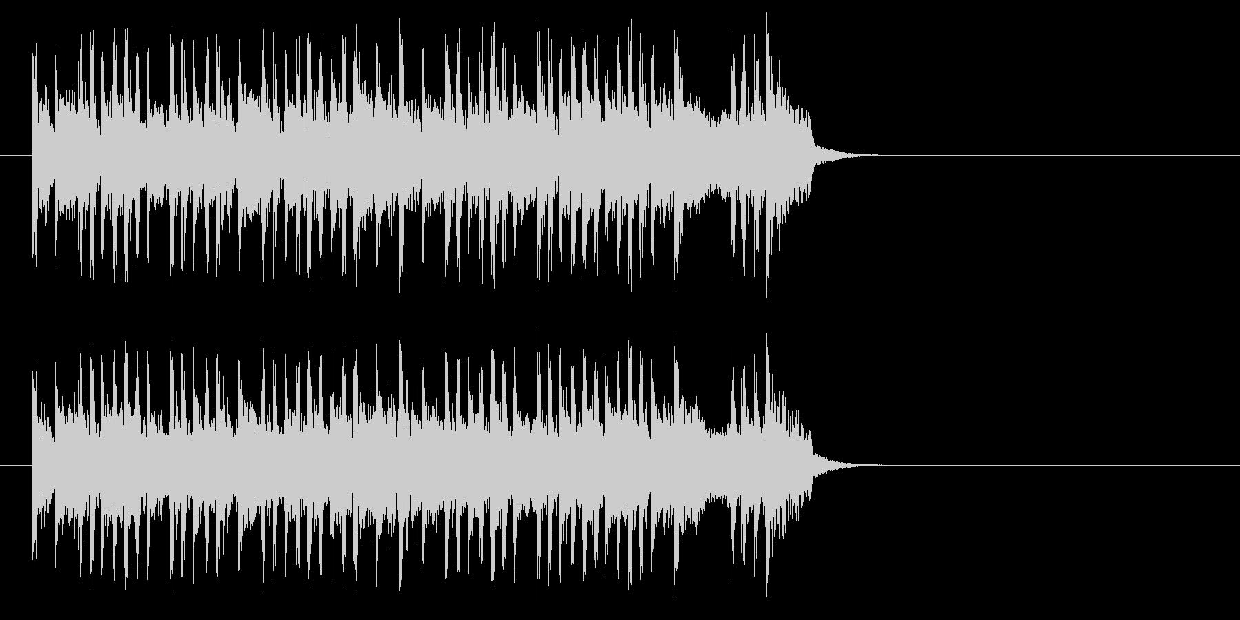 テンポの良いポップ(サビ)の未再生の波形