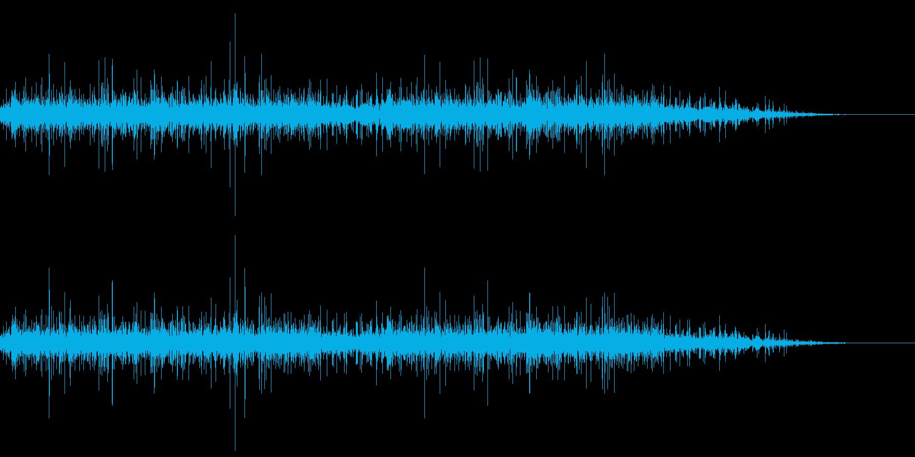 水路の音の再生済みの波形