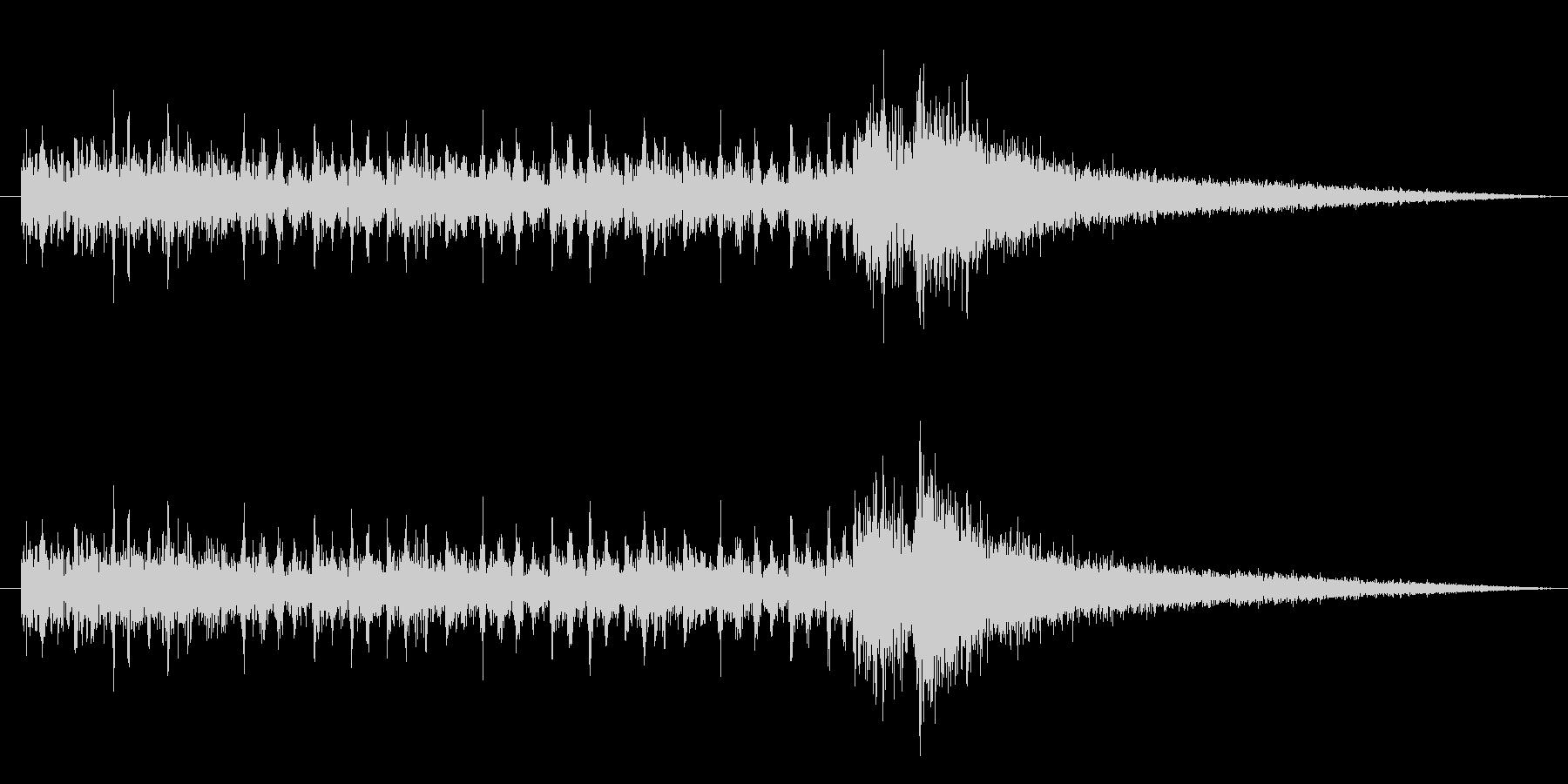 ドラムロール and ジャジャンの未再生の波形
