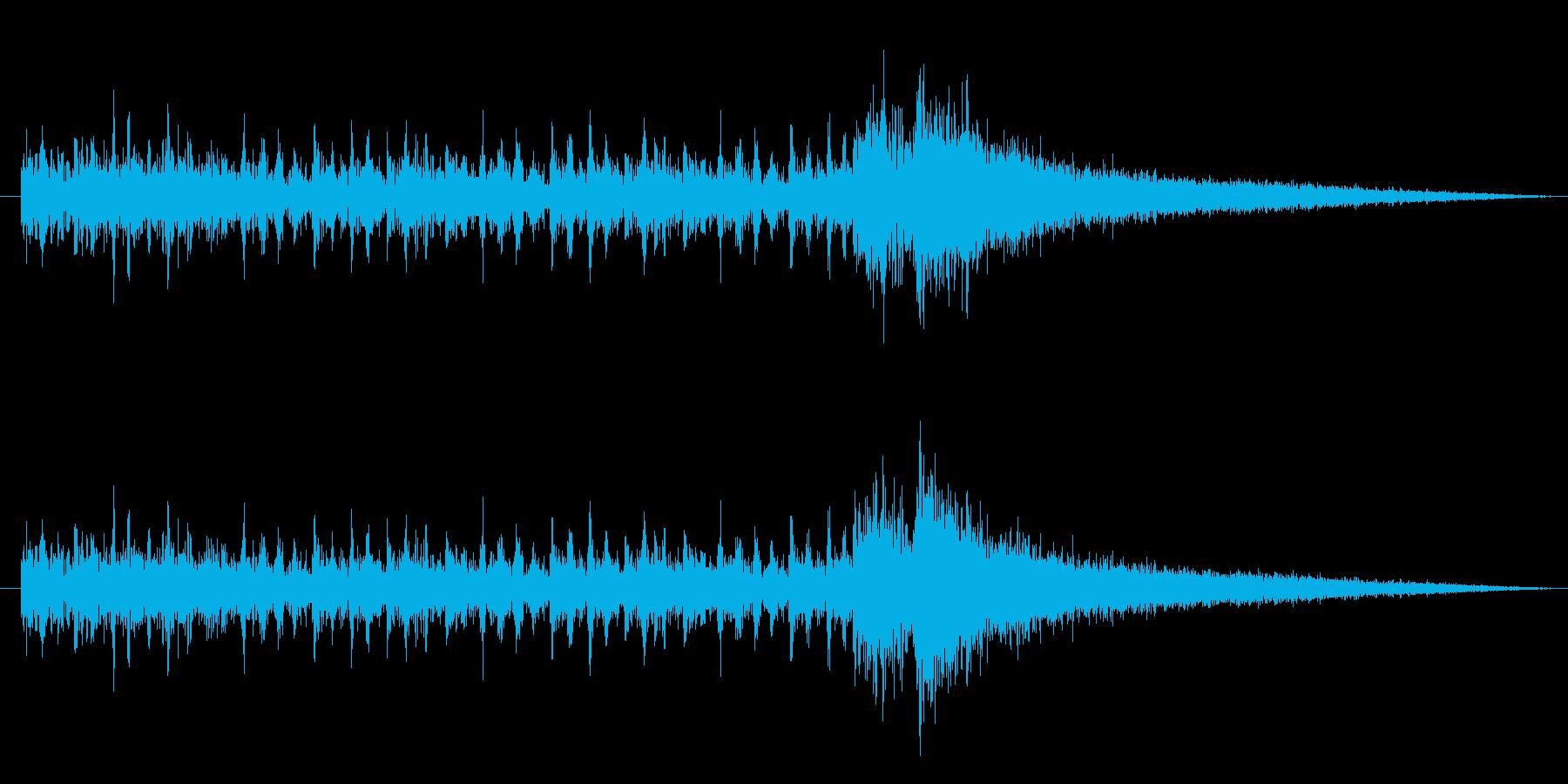 ドラムロール and ジャジャンの再生済みの波形