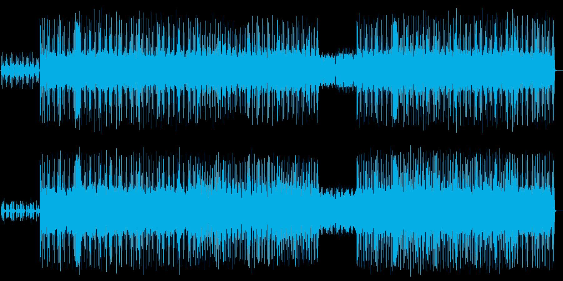 ミステリアスでマイナーなシンセサウンドの再生済みの波形