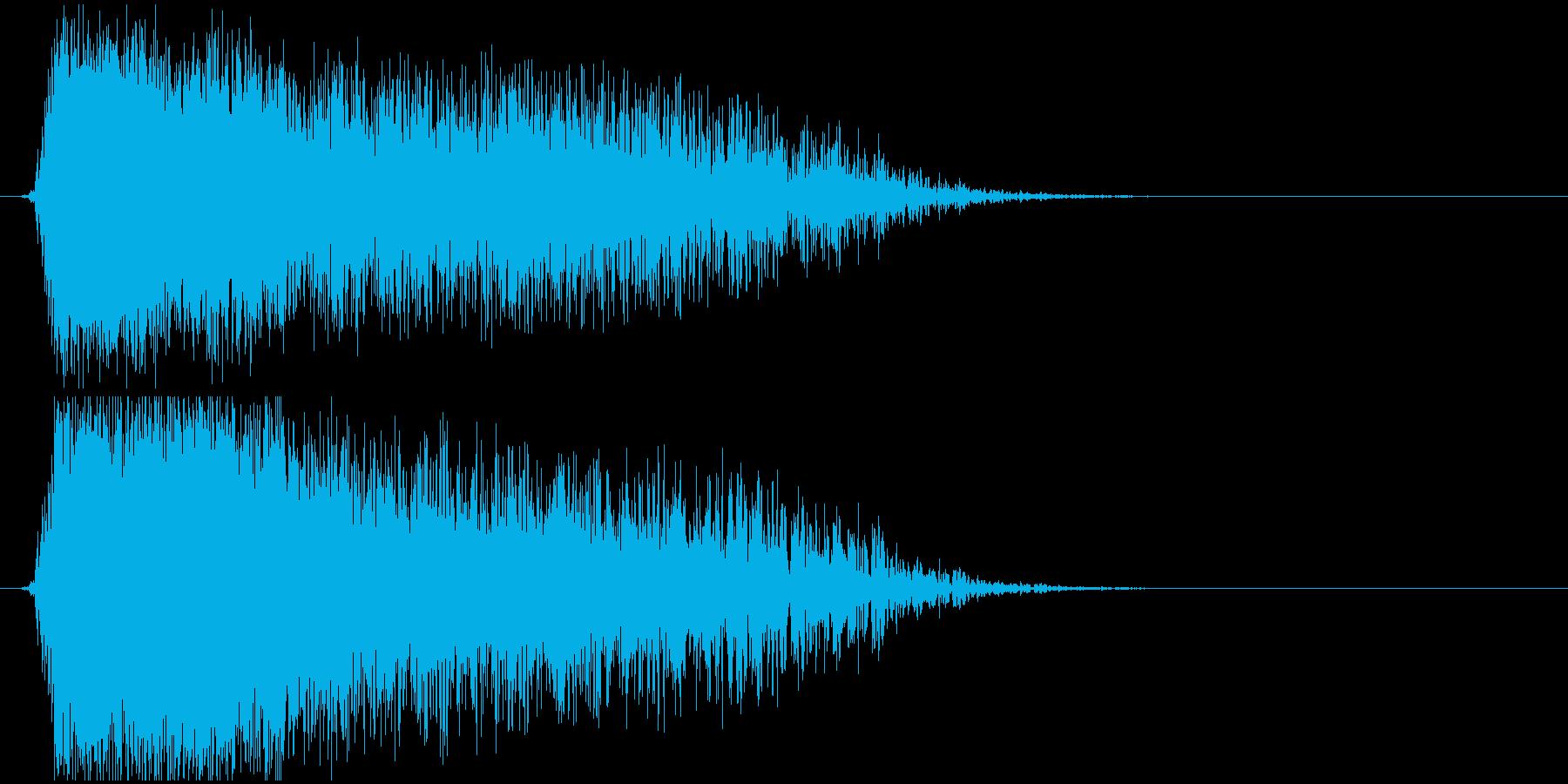 稲光_イナズマの再生済みの波形