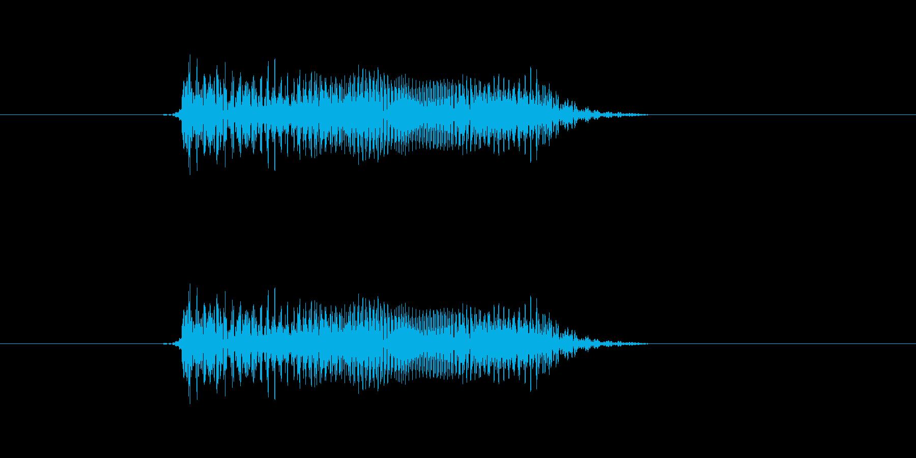 ギターのスライド音ですの再生済みの波形