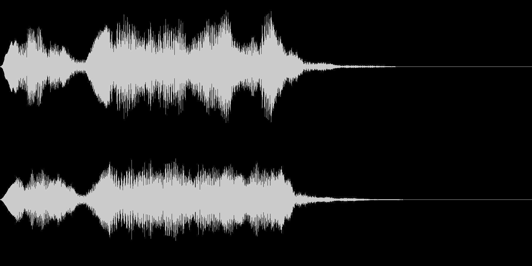 フルートの明るいジングル・場面転換1の未再生の波形
