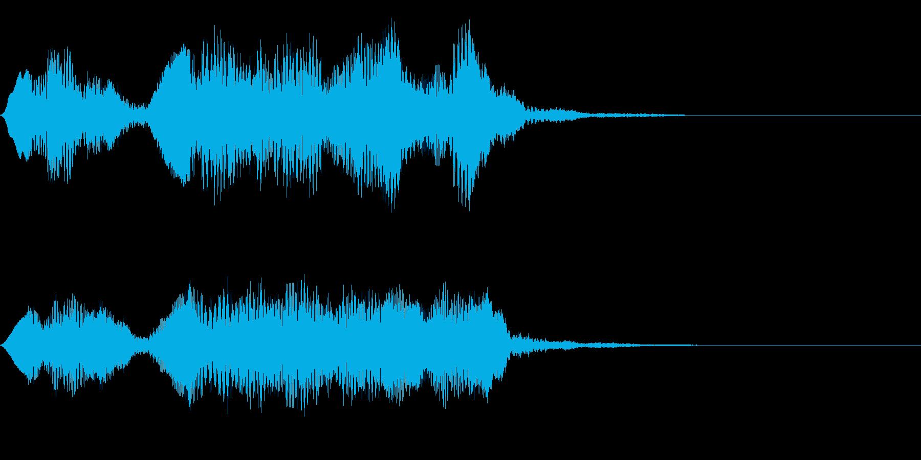 フルートの明るいジングル・場面転換1の再生済みの波形