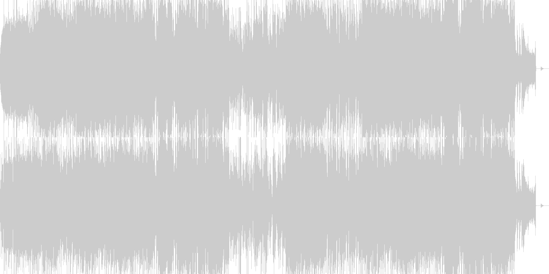 ヘヴィでダークなオープニング用ロックの未再生の波形