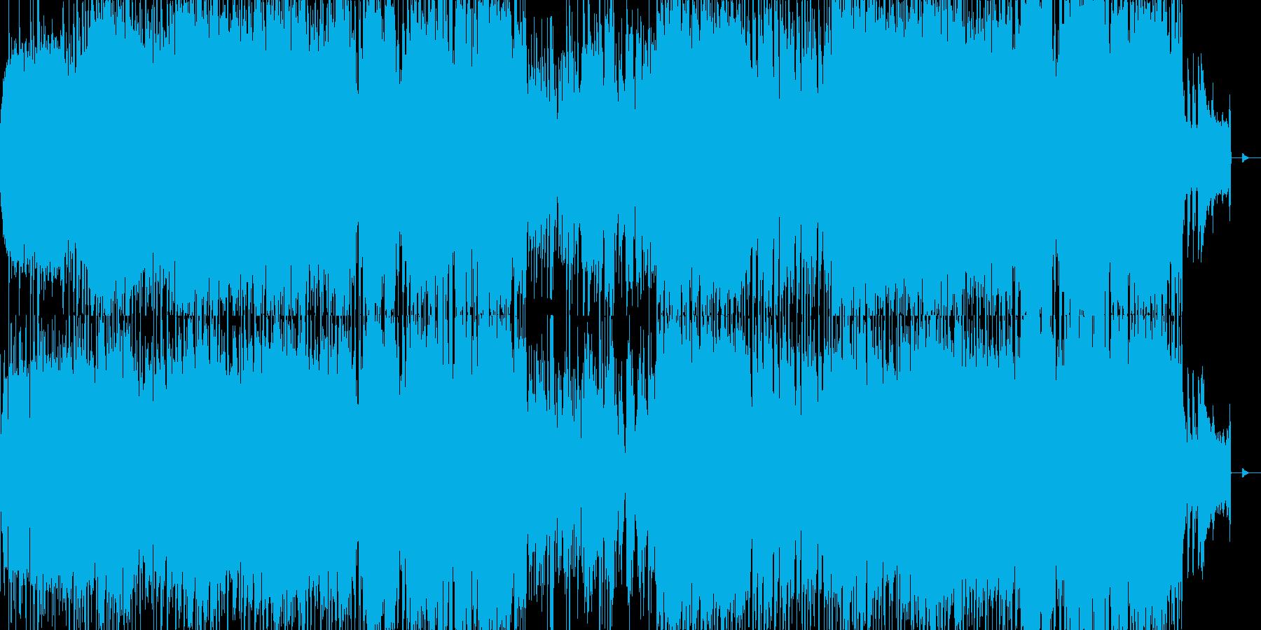 ヘヴィでダークなオープニング用ロックの再生済みの波形