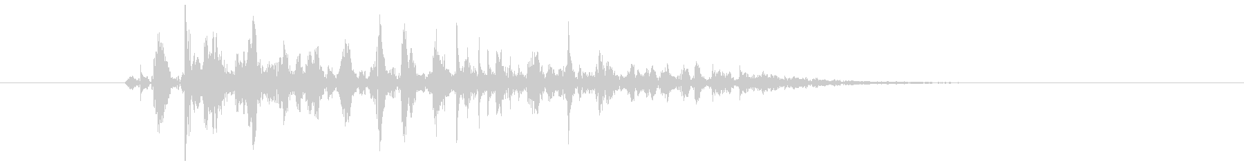 ブクブク(泡のような音) 01の未再生の波形