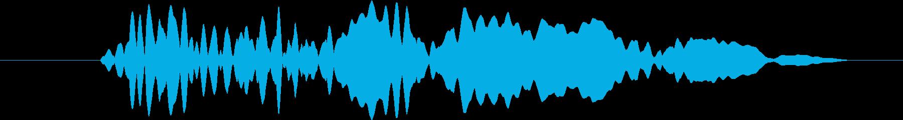 ショッキングなシーンにマッチする効果音…の再生済みの波形