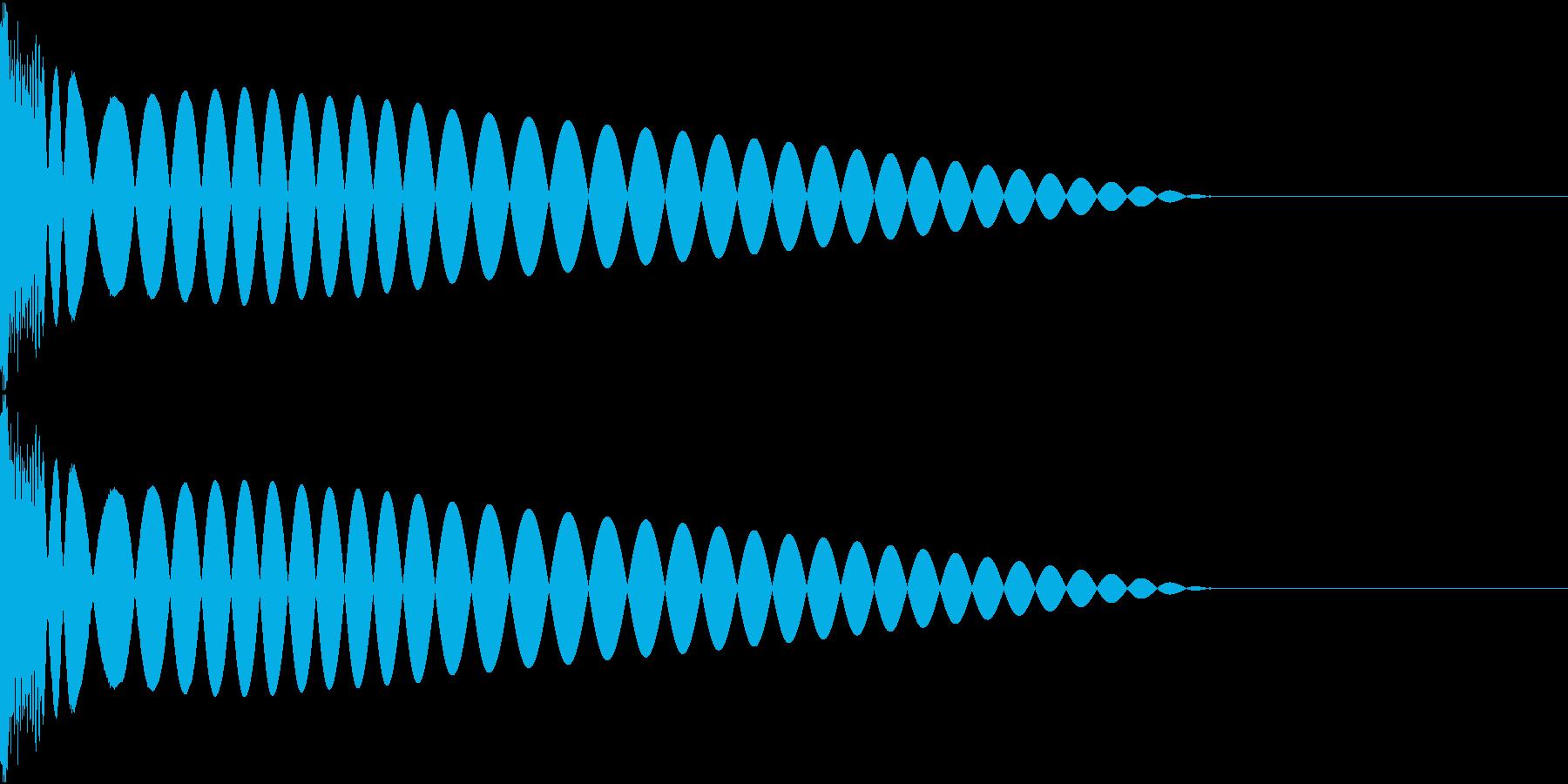 DTM Kick 13 オリジナル音源の再生済みの波形