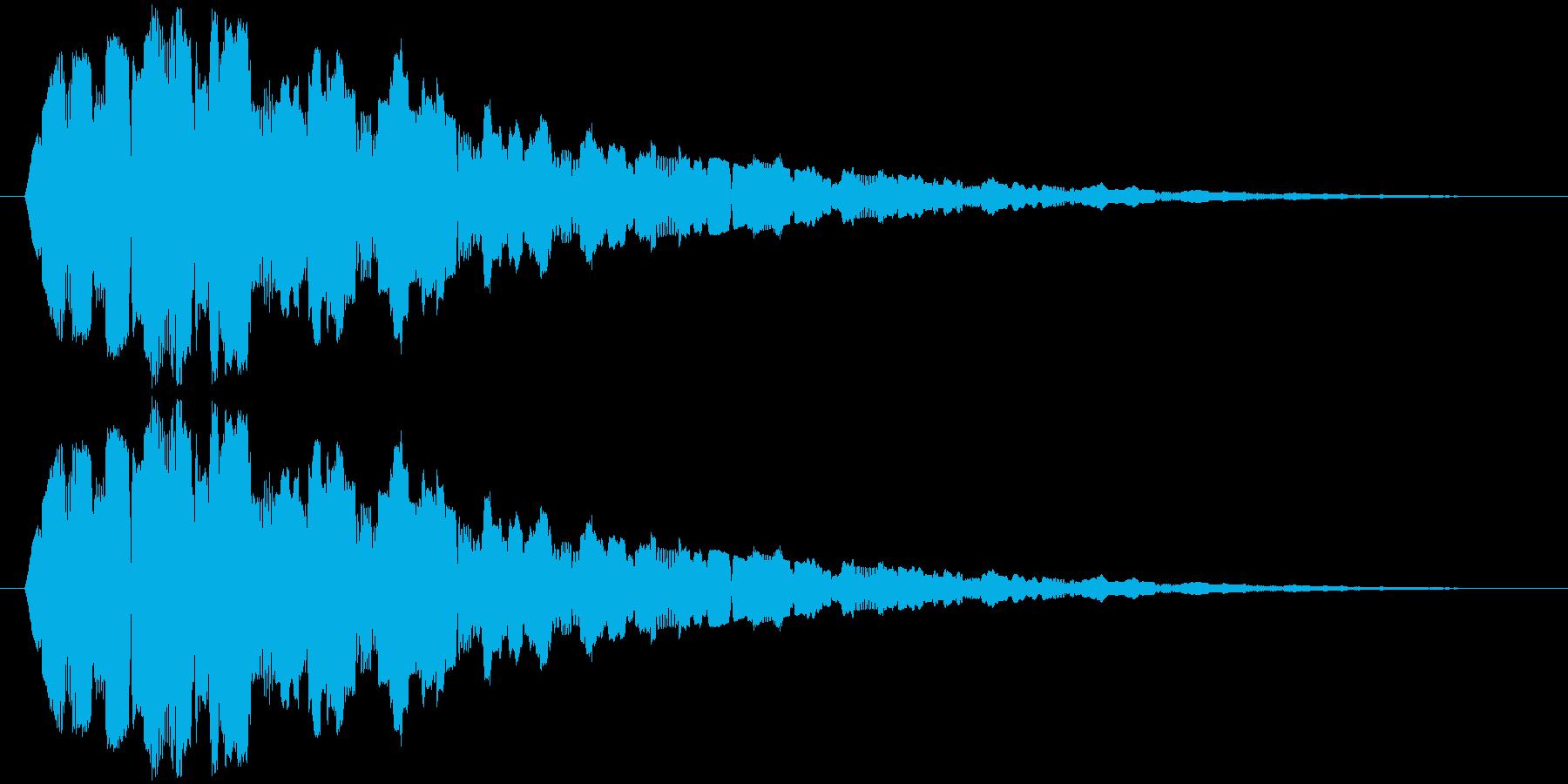 ホワワワワワワワワの再生済みの波形
