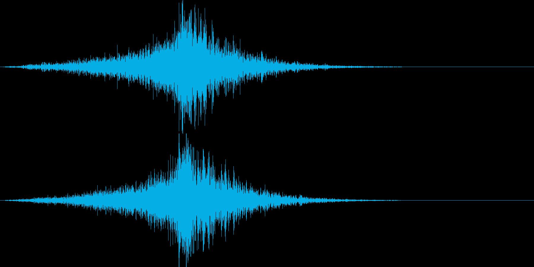 映画に合う効果音04の再生済みの波形