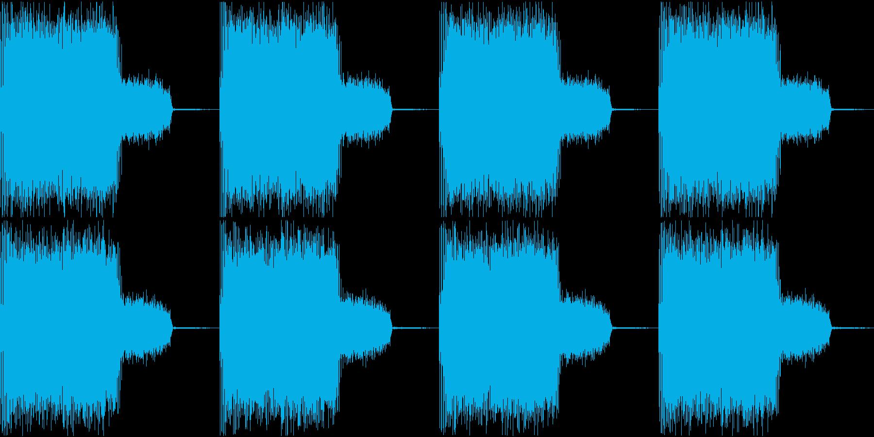 サイレン 警報 アラーム 緊急 3の再生済みの波形